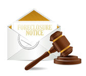 Foreclosure notice document papers and gavel — Stock Photo