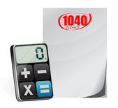 Taxes 1040 form and modern calculator i — Stock Photo