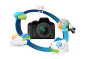 Camera instellingen concept — Stockfoto