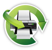 Printer cycle graphic — Stock Photo