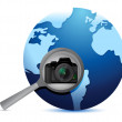 Camera global search selection — Stock Photo