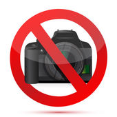 Camera do not use sign — Stock Photo