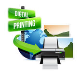 Digital printing concept — Stock Photo