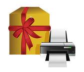 Caja de regalo de impresora — Foto de Stock