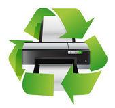Concepto de reciclaje impresora — Foto de Stock