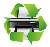 Printer recycle concept — Stock Photo