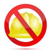 Keine konstruktionen ermöglichen zeichen — Stockfoto