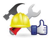 Like under construction sign — Stock Photo