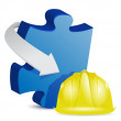 Puzzle under construction — Stock Photo