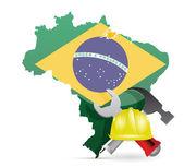 Brasilien under konstruktion — Stockfoto