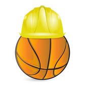 Basket utbildning. under konstruktion — Stockfoto