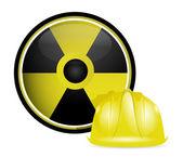 Знак защиты радиоактивных шлем — Стоковое фото
