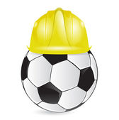 Soccer training construction illustration design — Foto Stock