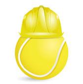 Tennis training construction illustration design — Stock Photo
