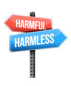 Harmful, harmless road sign — Stock Photo