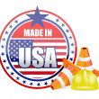 Made in usa. protection warranty — Stock Photo #23268000
