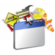 Website under construction illustration design — Stock Photo