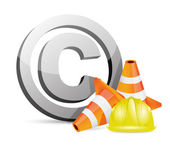 Copyright protection barrier concept — Stock Photo