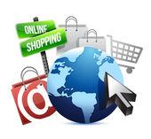 International online shopping concept — Stock Photo