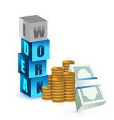 Making money work idea concept — Stock Photo