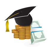 Tuition fee. education costs concept illustration — Stock Photo