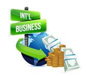 Internationella affärsidé — Stockfoto