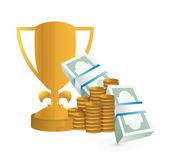 Diseño ilustración premio monetario — Foto de Stock