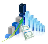 Financial business graph illustration — Stock Photo