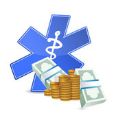 Medical expenses illustration — Stock Photo
