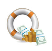 Economy bailout illustration — Stock Photo