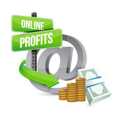 Online profits sign concept illustration — Stock Photo