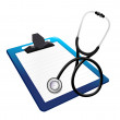 Royalty-Free Stock Photo: Clipboard with a Stethoscope