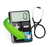 Calculator with a Stethoscope — Stock Photo