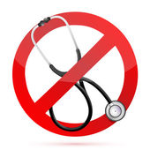 No medical help sign with a Stethoscope — Stock Photo