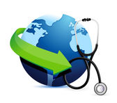 International medicine concept with a Stethoscope — Stock Photo