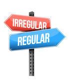 Irregular, regular road sign — Stock Photo