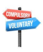 Compulsory, voluntary road sign — Stock Photo