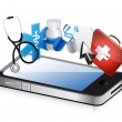 Stock Photo: Smartphone medical concept
