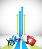Leader arrow medical concept — Stock Photo