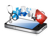 Smartphone medical concept — Stock Photo