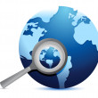 Global search concept illustration design — Stock Photo