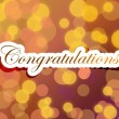 Stock Photo: Congratulations lettering illustration design