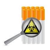 Uyarı işareti ve sigara çizimi — Stok fotoğraf