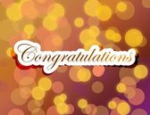 Congratulations lettering illustration design — Stock Photo