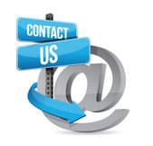 E mail contact us at sign — Stockfoto