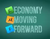 Ekonomika posunula — Stock fotografie