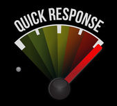 Quick response speedometer — Stock Photo