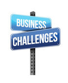 Business challenges sign — Stock Photo
