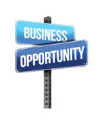 Business opportunity sign — Stock Photo