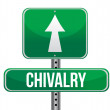 Chivalry road sign illustration design — Stock Photo
